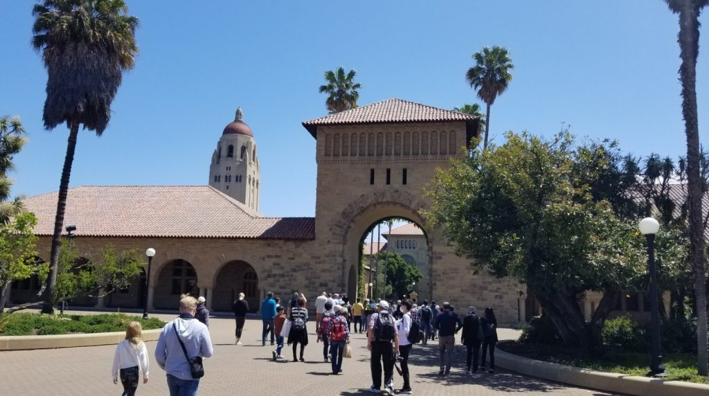 Stanford. Main Quad and Hoover Tower.